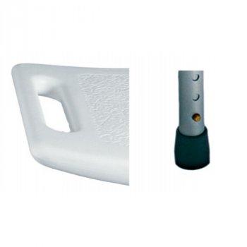 Стул медицинский для ванны и душа ARmedical со спинкой и регулировкой высоты 50 х 30 см Белый