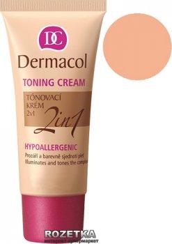 Легкий увлажняющий тональный крем Dermacol Toning Cream 2 in 1 30 мл 04-Natural (85934832)