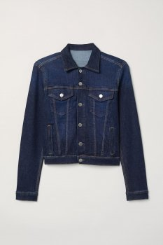 Джинсова куртка H&M 601-3990618 Темно-синя