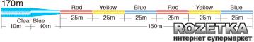 Леска Sunline New Tapered Line 170 м 0.235>0.57 мм 3.6 кг конусная 3-цветная (16580085)