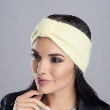 Зимняя повязка Jolie Ангора Желтый (533)