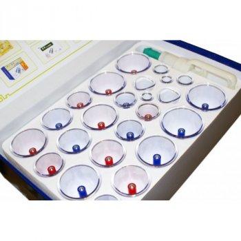 Массажные антицеллюлитные вакуумные банки 24 шт YS с насосом вакууматором (as-10236)