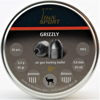 Пули пневм H&N Grizzly, 85шт/уп, 5,3г, 9 мм