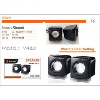 Мощные колонки Kisonli для ПК Сабвуфер USB naav1120