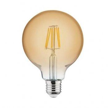 Лампа вінтажна світлодіодна ретро (RUSTIC GLOBE-6) 6W Filament led 2200К E27 Horoz Electric