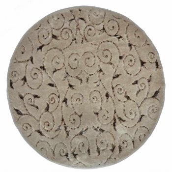 Килимок у ванну Arya Sarmasik круглий 120 см Коричневий AR-1380031-brown