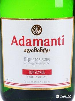 Вино игристое Adamanti белое полусухое 0.75 л 12.5% (4860004073242)
