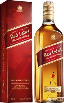 Виски Johnnie Walker Red label выдержка 4 года 1 л 40% в подарочной упаковке (5000267013626)