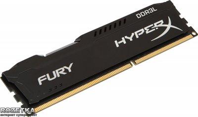 Оперативна пам'ять HyperX DDR3L-1600 8192MB PC3-12800 FURY Black (HX316LC10FB/8)