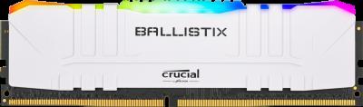 Оперативна пам'ять Crucial DDR4-3200 8192 MB PC4-25600 Ballistix RGB White (BL8G32C16U4WL)