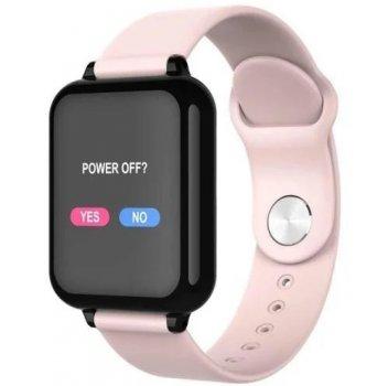 Смарт годинник з тонометром Lemfo b57 рожеві фітнес браслет