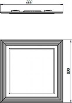 Зеркало BOTTICELLI Treviso ТМ-80 черное/патина серебро