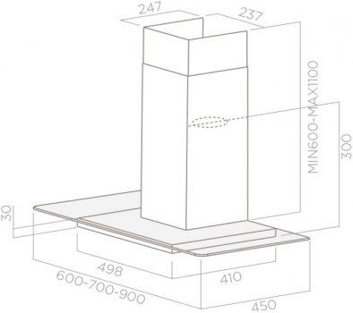 Вытяжка ELICA FLAT GLASS PLUS IX/A/60