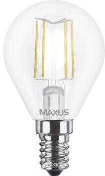 Світлодіодна лампа Maxus філамент G45 4W яскраве світло E14 (1-LED-548)