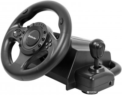 Дротове кермо Defender Forsage Drift GT USB PC/PS3 Black (64370)