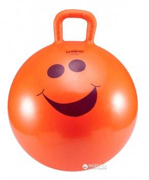 М'яч для фітнесу дитячий LiveUP Hopping з ручкою 45 см Orange (LS3220)