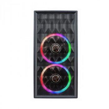 Корпус 1stPlayer D8-M-R1 Color LED Black без БЖ