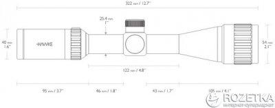 Оптичний приціл Hawke Vantage 3-9x40 AO 30/30 (922123)