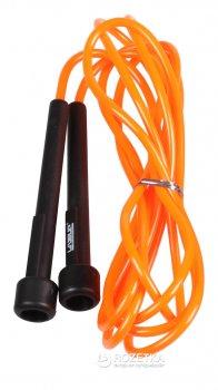 Скакалка LiveUp PVC Jump Rope 275x0.5 см Black-Orange (LS3115-o)