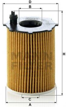 Фильтрующий элемент масляного фильтра MANN HU 716/2x