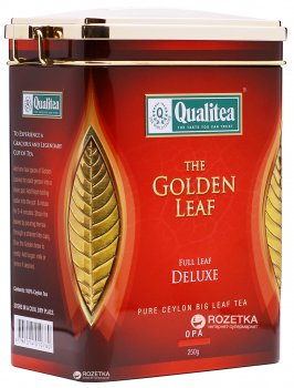 Чай черный Qualitea Цейлон Крупнолистовой 250 г (4791014005070)