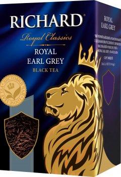 Чай Richard черный байховый листовой Earl Grey с бергамотом 90 г (4823063702539)