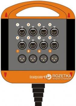 Мультикор Bespeco XTRA804L10 10 м Black/Orange (23-15-2-12)
