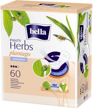 Ежедневные гигиенические прокладки Bella Panty Herbs Sensitive Plantago 60 шт (5900516312213)