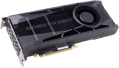 EVGA PCI-Ex GeForce RTX 2080 Ti Gaming 11GB GDDR6 (352bit) (1545/14000) (USB Type-C, HDMI, 2 x DisplayPort) (11G-P4-2380-KR)