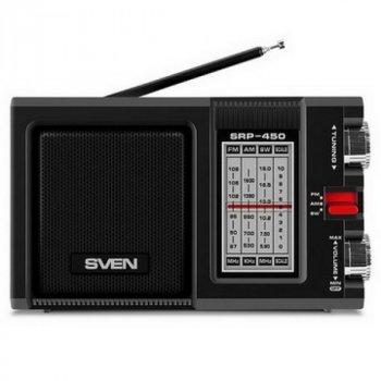 Радіоприймач Sven SRP-450 Black UAH