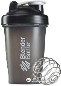 Шейкер BlenderBottle Classic з кулькою 590 мл Чорний (Classic 20oz черный)