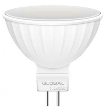 Світлодіодна лампа Global MR16 5W 3000K 220V GU5.3 (1-GBL-113)