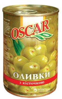 Оливки зеленые с косточкой Oscar 300 г (8436024292152)