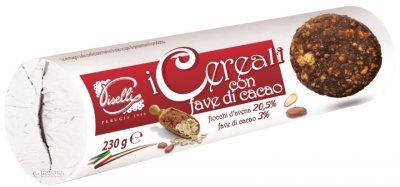 Печенье Piselli овсяное с какао бобами 250 г (8032755320890)
