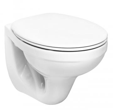 Туалет Унитаз IDOL, консольный с полипр. крышкой