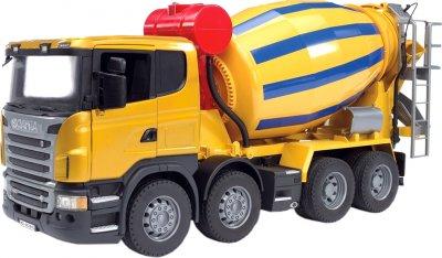 Игрушка Bruder Бетоновоз Scania R-Serie М1:16 Жёлтый (03554)