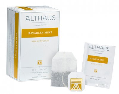 Чай трав'яний пакетований Althaus Bavarian Mint 20 x 1.75 г (4260312441014)