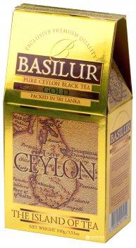 Чай черный рассыпной Basilur Остров Цейлон Золотой 100 г (4792252001152)