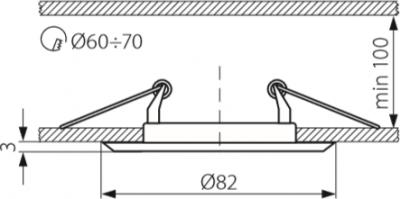 Світильник точковий Kanlux CT-2114-C Argus (301)