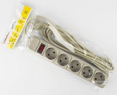 Сетевой фильтр Logan SFG5-5 5 м 5 розеток Grey