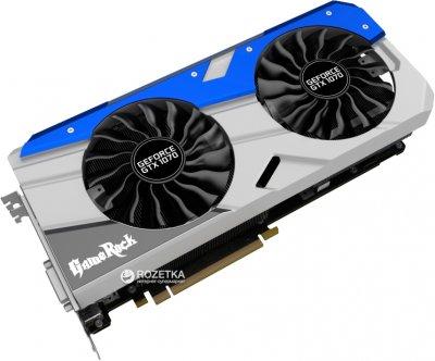 Palit PCI-Ex GeForce GTX 1070 GameRock Premium Edition 8GB GDDR5 (256bit) (1670/8500) (DVI, HDMI, 3 x DisplayPort) (NE51070H15P2-1041G)