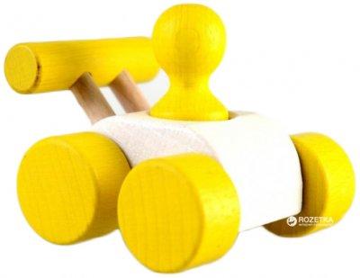 Деревянная машинка Руді Малыш Желтая (Ду-08ж)
