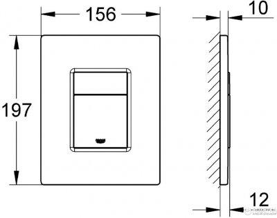 Панель смыва Grohe Skate Cosmopolitan Titanium (38732BR0)