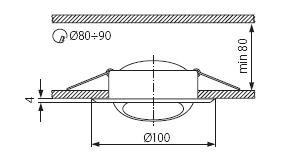 Світильник точковий Kanlux CT-2117-C/M Argus (KA-337)