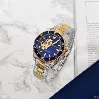 Мужские механичиские часы Megalith Silver наручные классические на стальном браслете + коробка (1088-0094)