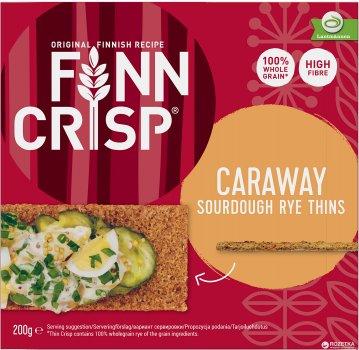 Сухарики Finn Crisp Caraway ржаные с тмином 200 г (6410500900108)