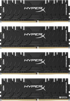Оперативна пам'ять HyperX DDR4-3200 32764MB PC4-25600 (Kit of 4x8192) Predator (HX432C16PB3K4/32)