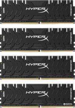 Оперативная память HyperX DDR4-3200 32764MB PC4-25600 (Kit of 4x8192) Predator (HX432C16PB3K4/32)