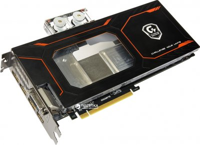 Gigabyte PCI-Ex GeForce GTX 1080 Xtreme Gaming Waterforce WB 8GB GDDR5X (256bit) (1759/10206) (DVI, 3 x HDMI, 3 x Display Port) (GV-N1080XTREME WB-8GD)