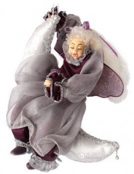 Ялинкова іграшка Scorpio Лялька-фея на місяці 20 см Бордова (570704)(4820005707041)